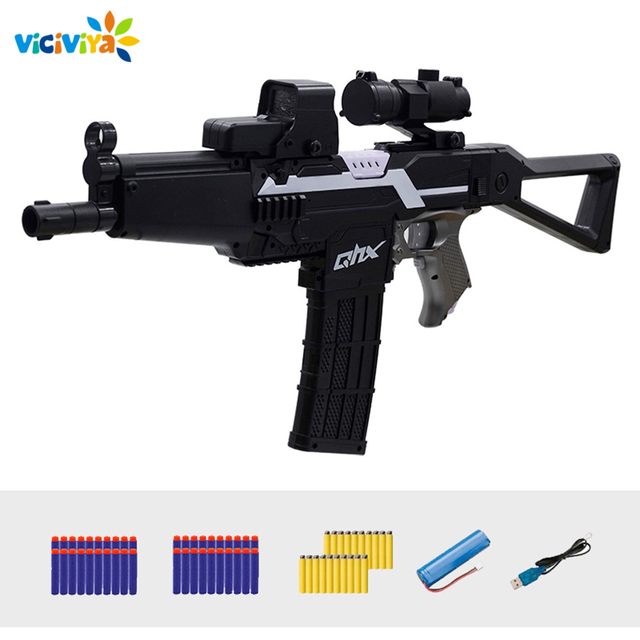 Electric Burst Rifle Toy Gun for Children Gun Suit for Nerf With 60pcs EVA Soft Bullets Birthday Gift For KidsOutdoor Fun & Sports