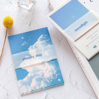 The Sky Cloud Theme Memo Pad 30 Sheets DIY Message Note Journal Diary Deco Material Supplies image