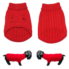 Sweater Puppy-Dog Knitting Winter Fashion Fangnymph Warm Solid Pet-Supplies High-Quality