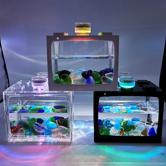 Mini Fish Tank For Desk Top Goldfish - Tetras - Bettas 4