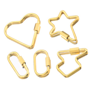 Gold Stainless Steel DIY Jewelry Making Popular Hanging Chain Lock Hook Spiral Clasps DIY Necklace Bracelets Hand Made Supplies