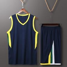 4 цвета, мужской баскетбольный костюм Джерси для колледжа, летняя спортивная одежда для соревнований, быстросохнущая спортивная одежда, индивидуальный логотип, номер имени