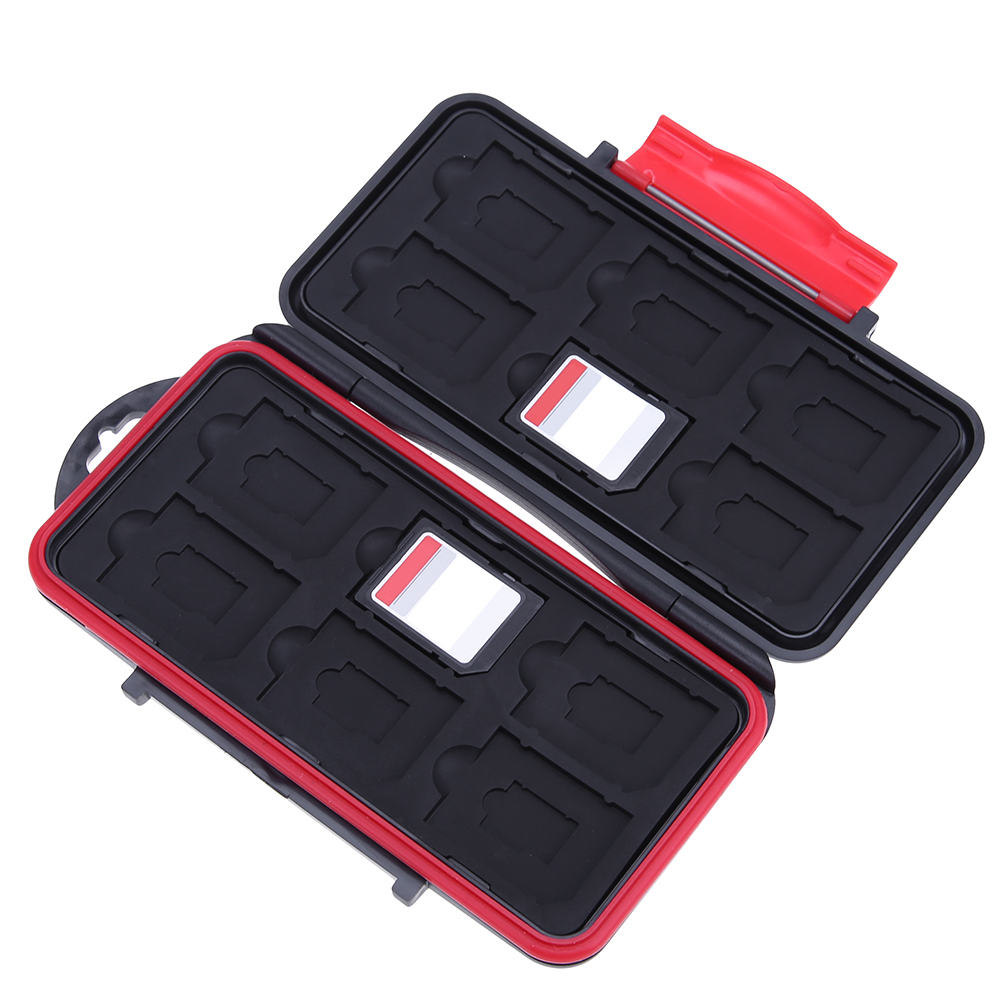 ALLOYSEED Portable All In One Large Capacity Memory Card Box Waterproof Shockproof  SD And TF Card Storage Case Dropshipping