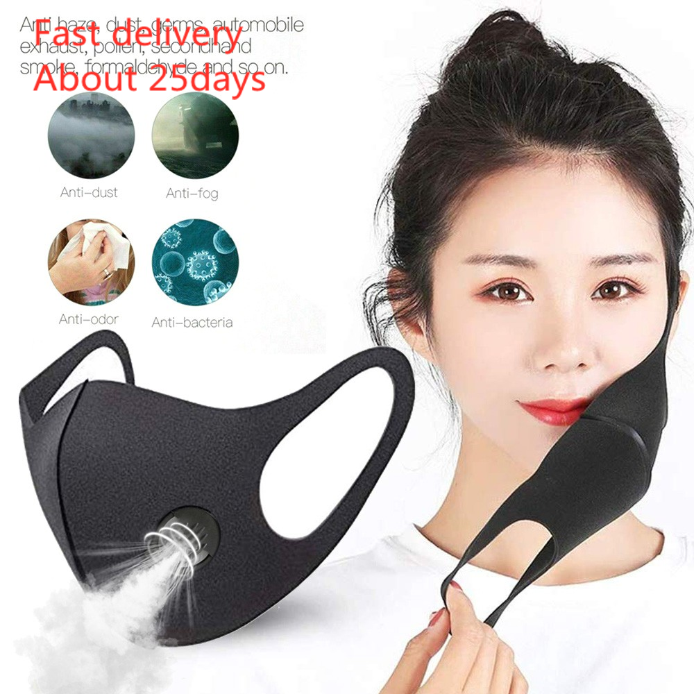 Mask Mascara Outdoor Anti Smoke Dust Air Purifying Pm2.5 Face Mask Carbon Filter Multi Layer Masks
