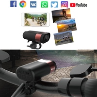 Waterproof Bike Light Full HD1080P Wifi Action Camera Video Bicycle Front Light 2 In 1 Cycling Headlight&DVR Smart Sports Camera