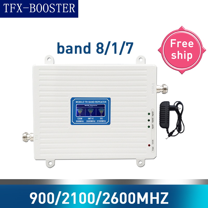 TFX-BOOSTER GSM 2G WCDMA 3G LTE 4G 900/2100/2600MHZ Cell Phone Signal Booster 2G 3G 4G LTE DCS 2600MHZ Repeater GSM WCDMA 2g 3g
