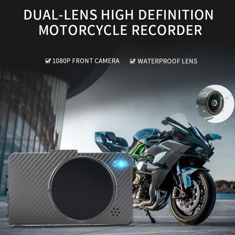 3 pouces 1080P HD Moto caméra DVR moteur Dash Cam avec double piste avant arrière enregistreur Moto électronique Moto étanche