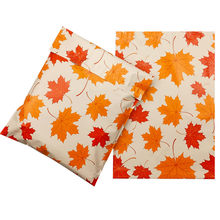 50 stücke Neue E-mails Tasche Maple Leaf Muster 10*13 Zoll Kurier Tasche Cartoon Anime Poly Mailer Selbst Dichtung kunststoff Mailing Umschlag Tasche