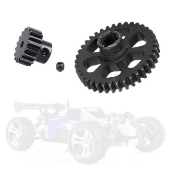38T Steel Metal Diff Main Gear & 17T Motor Pinion Gear Spare Parts for WLtoys RC 1/18 A959 A949 A969 A979 K929 Replacement