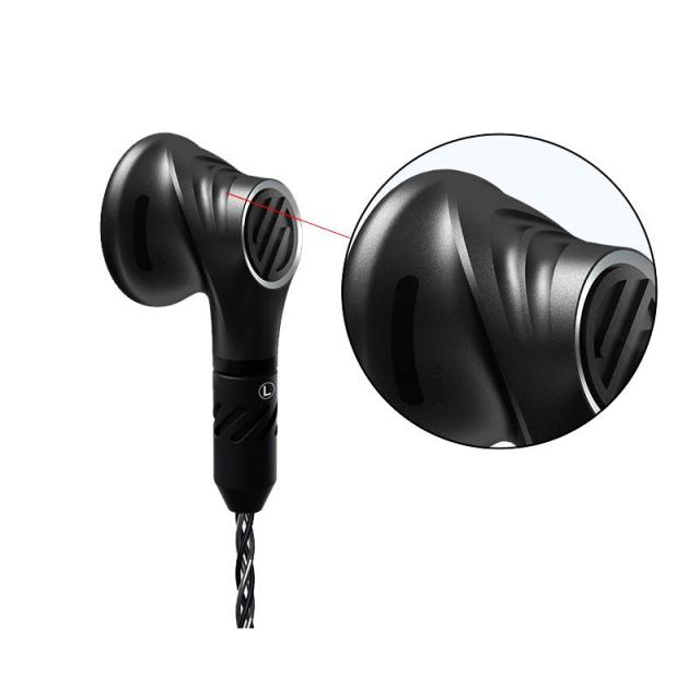 BGVP DX5 Flat Head Plug Earburd Metal Earphone Stereo Hifi Music Monitor DJ Studio Stage MMCX Earphone High Quality DIY Headset 2