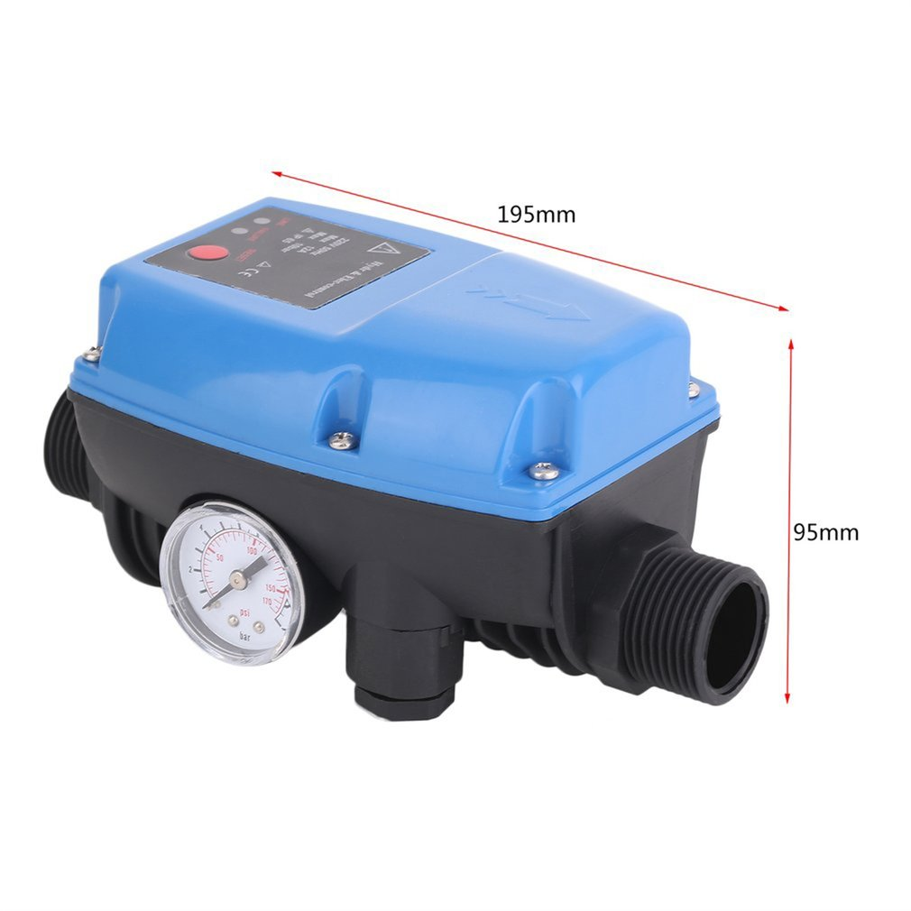 Купить с кэшбэком SKD-5 Electronic Water Pump Pressure Control Professional Automatic Pressure Control Switch With Pressure Gauge