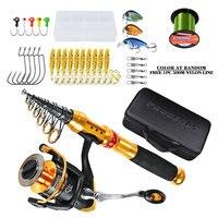 Fishing Gear Set Carbon Fiber Sea Fishing Rod Telescopic Fishing Rod and Spool Combination Kit