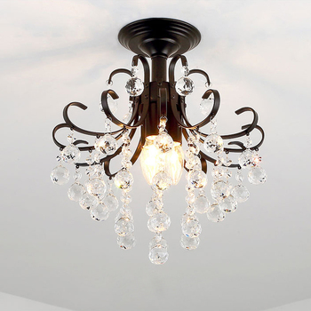 Modern Crystal Chandelier Lighting For Bedroom Kitchen Lustre Cristal Ceiling Chandeliers K9 Crystal Golden Black Light Fixture new design led crystal light ceiling crystal chandelier modern home chandeliers