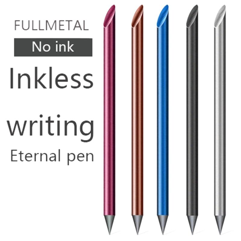 Novelty Cool Undead Full Metal Fountain Pen Luxury Eternal Pen Gift Box Inkless Pen Beta Pens Writing Stationery Office School