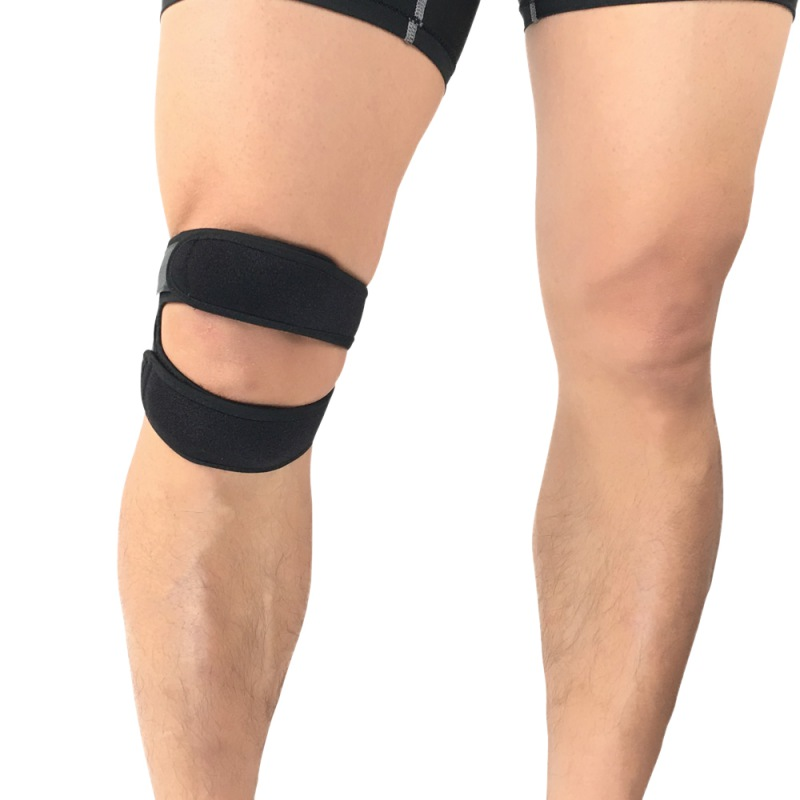 New Hot Pressurized Knee Wrap Sleeve Support Bandage Pad Elastic Braces Knee Hole Kneepad Safety Basketball Tennis Cycling 1pc