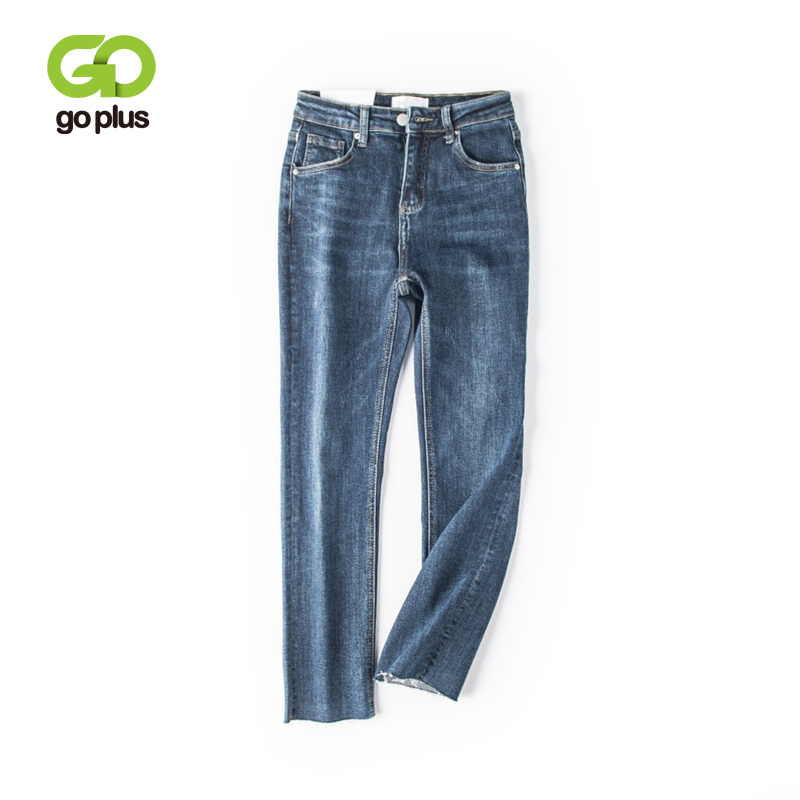 GOPLUS Jeans Women Stretch Skinny Blue Jeans Plus Size  High Waist Jeans Straight Pants Vaqueros Mujer Spodnie Damskie C9749