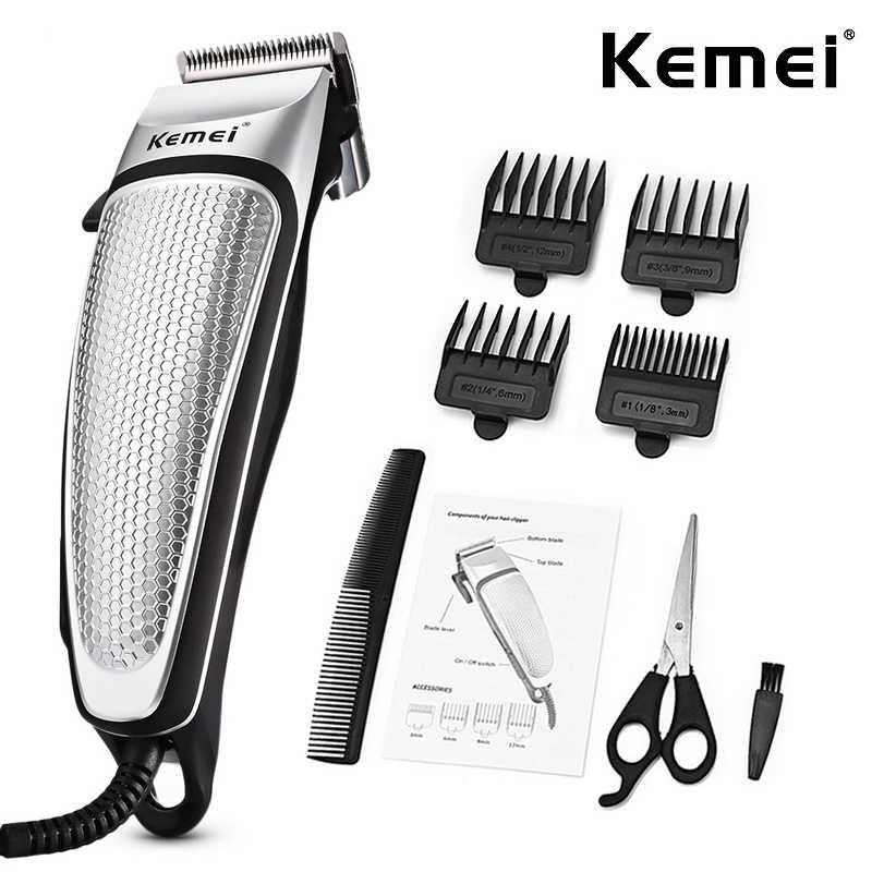 を Kemei プロフェッショナル理髪店バリカン強力な電気コード付きバリカン男性家庭用低ノイズ散髪サロンツール D40