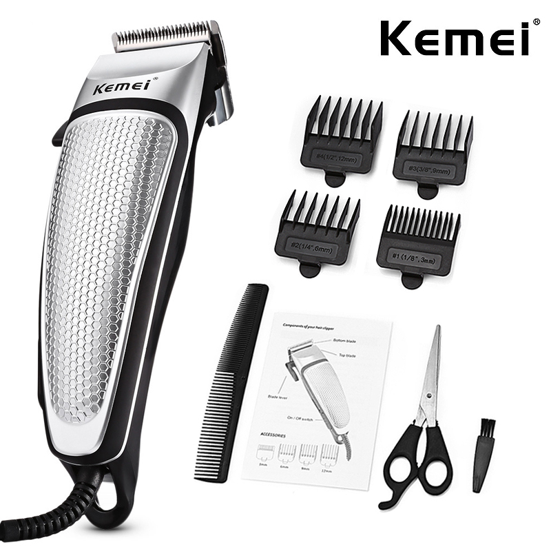 Kemei Professional Barber Shop Hair Clipper Powerful Electric Corded Hair Clipper Men Household Low Noise Haircut Salon Tool D40
