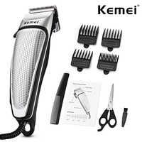Kemei professionnel Salon de coiffure tondeuse à cheveux puissant électrique filaire tondeuse à cheveux hommes ménage à faible bruit coupe de cheveux Salon outil D40