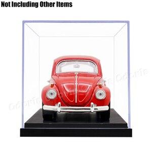 Image 5 - Odoria 24.8x12x11.5cm akrilik vitrin kutusu plastik taban toz geçirmez eylem şekilli kalıp otomobil araç Pop koleksiyon bebekler