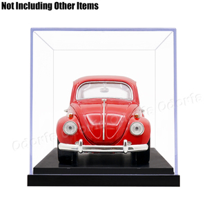 Image 5 - Odoria 24.8x12x11.5cm 아크릴 디스플레이 케이스 박스 플라스틱베이스 방진 액션 피규어 모델 자동차 차량 팝 용품 인형