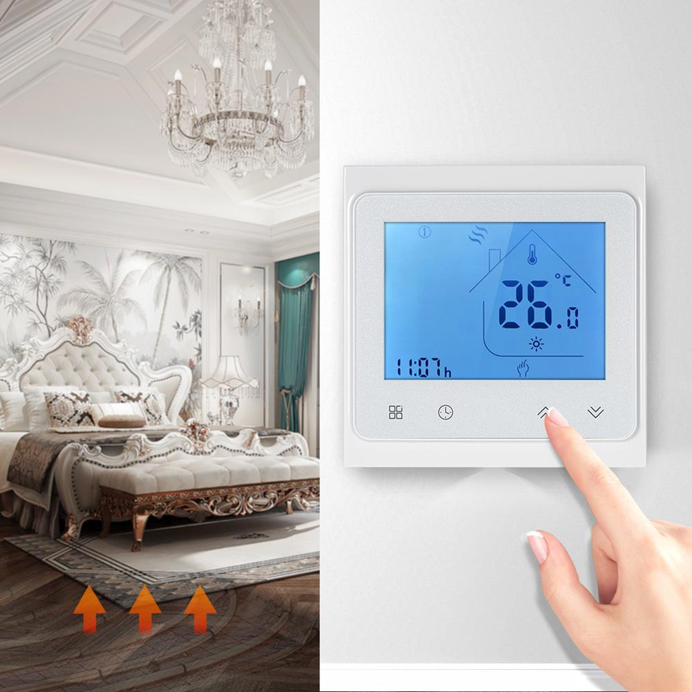 3A 95-240V LCD With Backlight Thermostat Programmable Touch Screen Thermostat Water Heating Temperature Controller