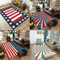 Area Rug for Living Room Classic Flag Pattern Thickened Carpet Area Rug for Bedroom Living Room Table Accessories Floor Mats