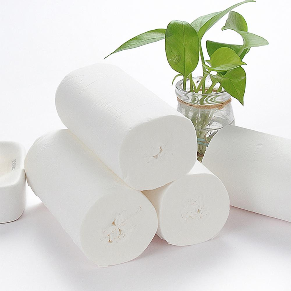 10pcs/bag Three Layer Soft Toilet Paper White Roll Clean Toilet Tissue 2020 Towels Skin-friendly Paper