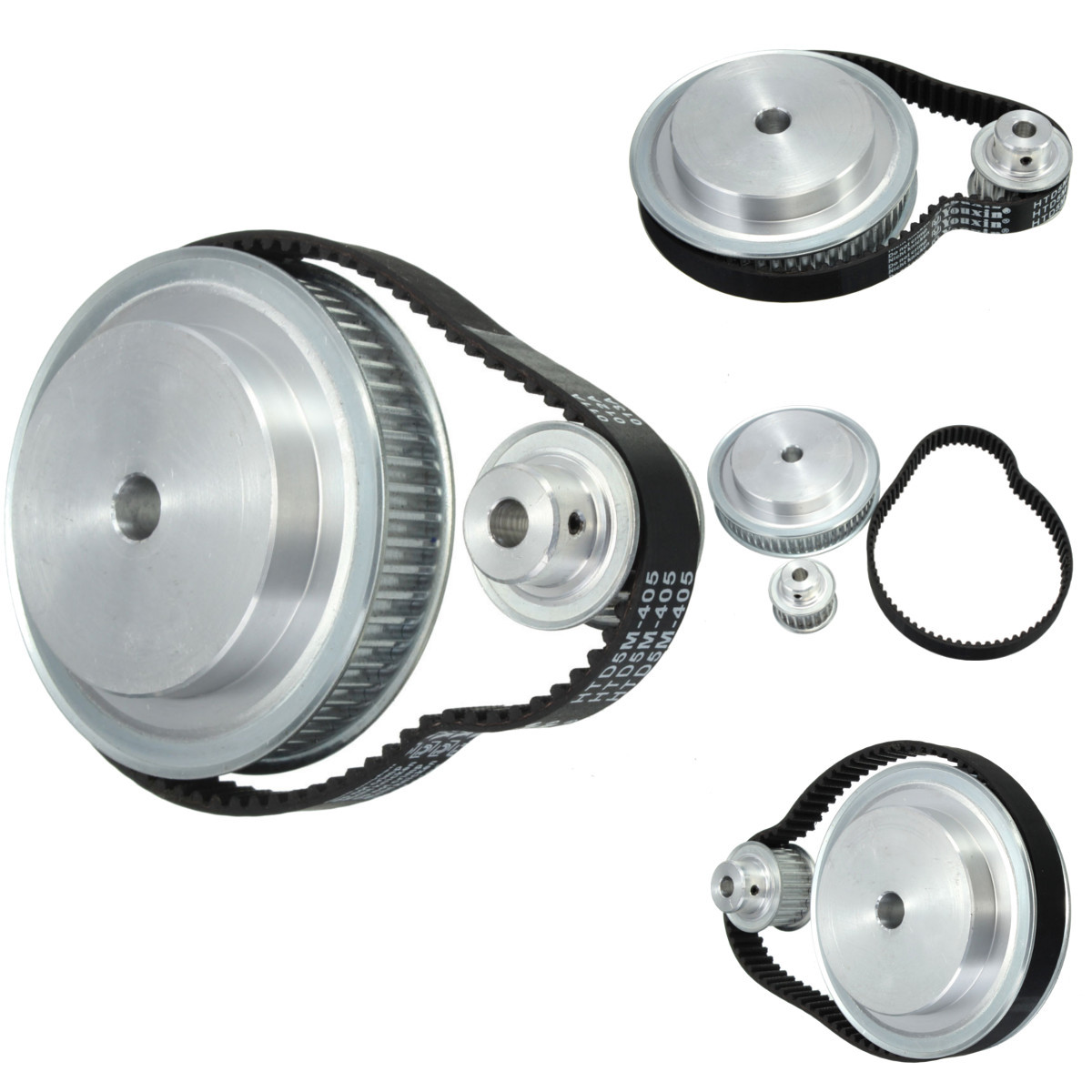 5M Timing Pulley Belt Set Reduction 3:1 Engraving Machine Accessories CNC Belt Pulley Gear Kit