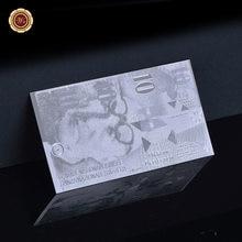 Billetes chapados en plata de Suiza con marco Coa, gran oferta, 10 dólares