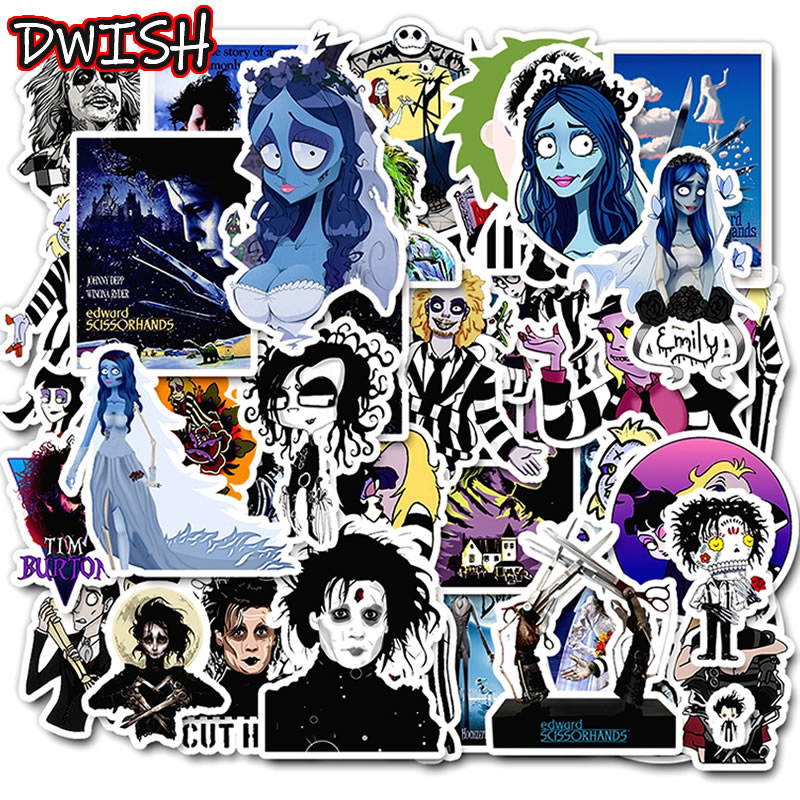 10/30/50pcs PVC Waterproof Movies Anime Stickers Skateboard Guitar Suitcase Motorcycle Children Graffiti Sticker Kid Classic Toy