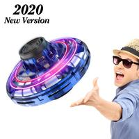 2020 New Gyro Fly Spinner Mini Automatic Gyroscop USB Charge Returning Gyro Kids Toy Gift Outdoor Gaming Flynovasaucer UFO Drop