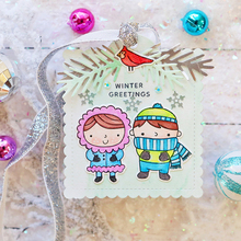 Sweet Boys&Girls Clear Stamps Warm Holiday Wishes To You For DIY Card Making Kids Transparent Silicone Stamp New 2019