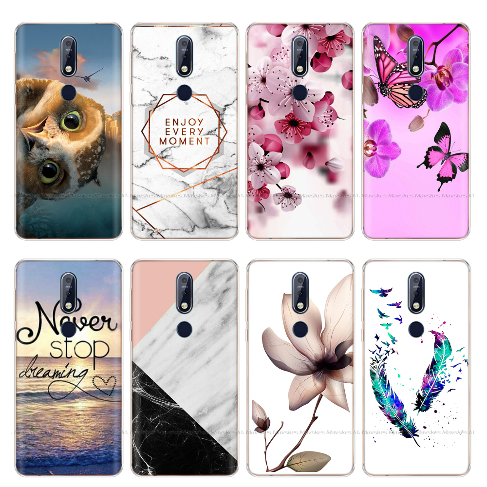 Phone <font><b>Case</b></font> For <font><b>Nokia</b></font> 7.1 Plus Soft <font><b>Silicone</b></font> TPU Cartoon Protector Cover <font><b>Cases</b></font> For <font><b>Nokia</b></font> <font><b>8.1</b></font> / NokiaX7 2018 Back Coque Bumper image
