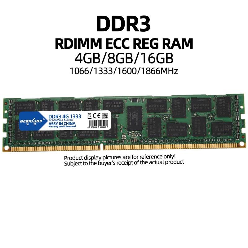 4GB DDR3 ecc reg ram PC3 1066Mhz 1333Mhz 1600Mhz 1866Mhz 10600R 12800R 14900R 1866 1600 compatible 16GB 8GB 2