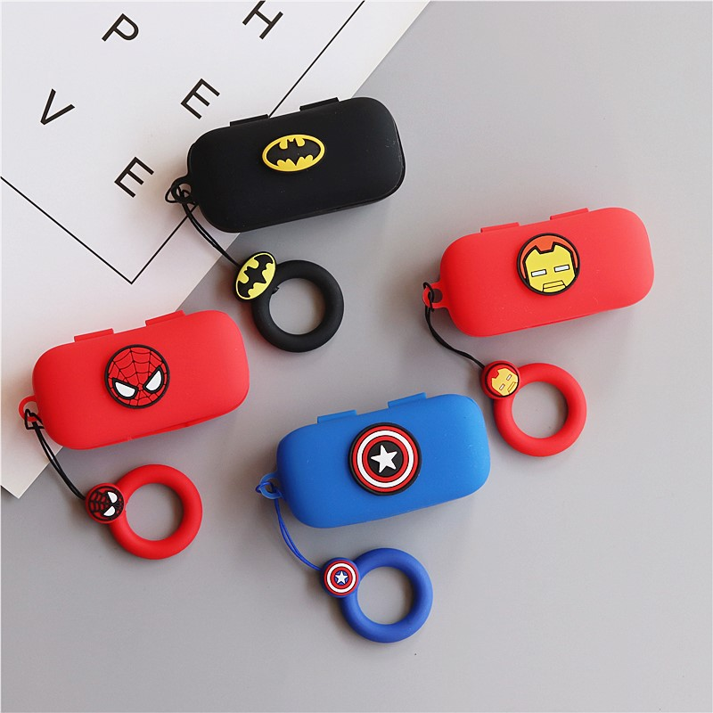 Cartoon Cute Silicone Case For QCY T5 Wireless Bluetooth Headset Portable Protective Cover With Hook For QCY T5