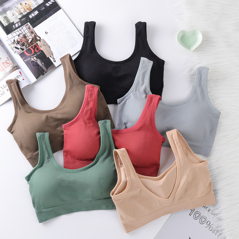 Bra Women Fashion Girls Yoga Tops Sport Bra Fitness Breathable Yoga Running Sport Bra Cotton Women Tops Sujetador Deportivo