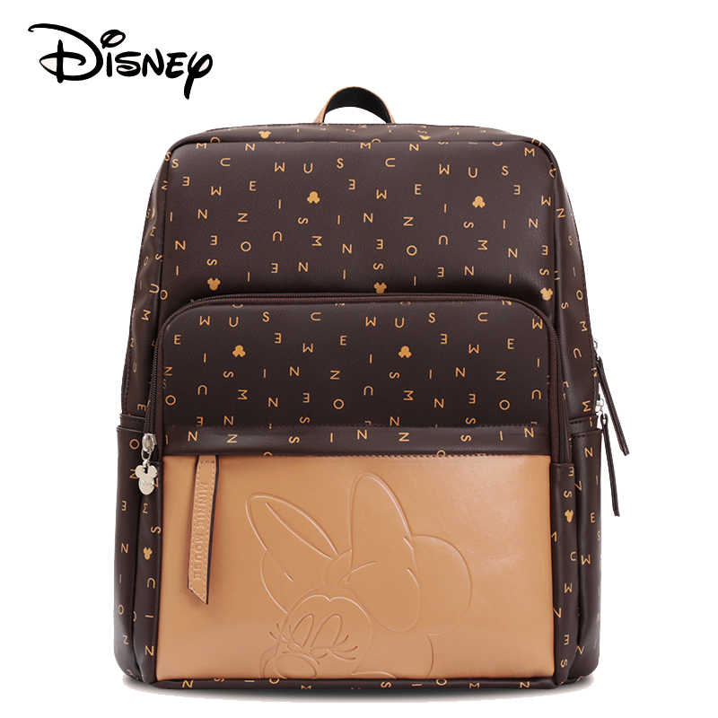 Disney  USB Diaper Bag Baby Care Backpack for Mom Mummy Maternity Wet Bag Waterproof Baby Pregnant Bag