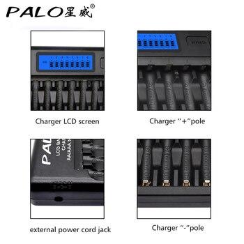Palo 8/12/14/16/24 Slots Carregador Inteligente Display Lcd Carregador De Bateria Inteligente Para 1.2 V Aa Aaa Ni-mh Nicd Bateria Recarregável