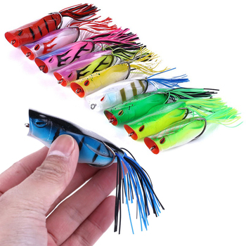 1pc 7cm 14g Soft Ray Frog Fishing Lures Isca Artificial Hooks Popper Wobblers Bait Carp Fishing Pesca Fishing Tackle image