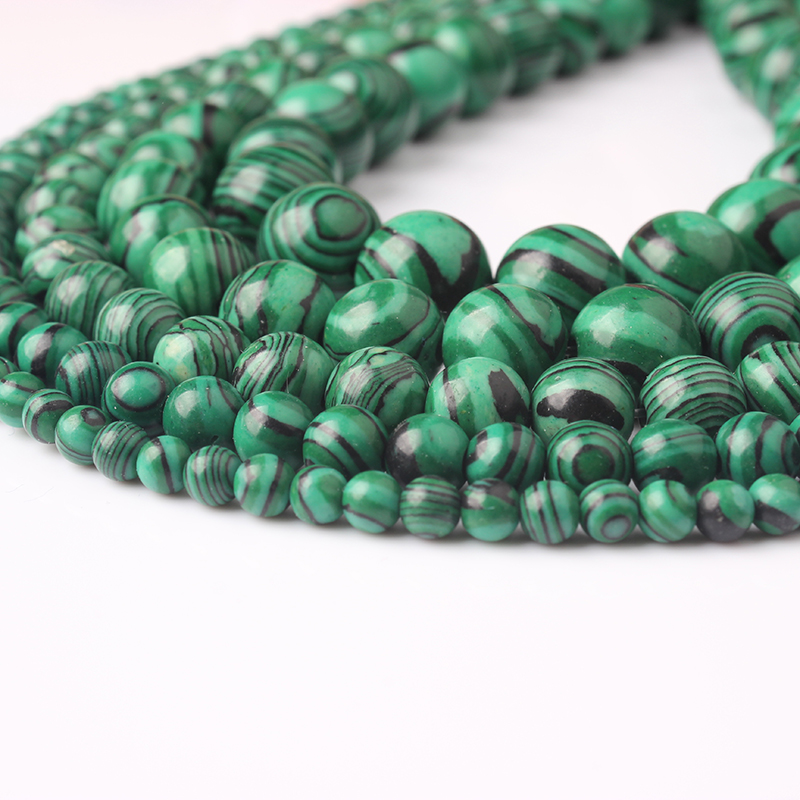 Diy 4//6//8//10//12mm Natural Stone peacock agate Round Beads fit bracelet necklace