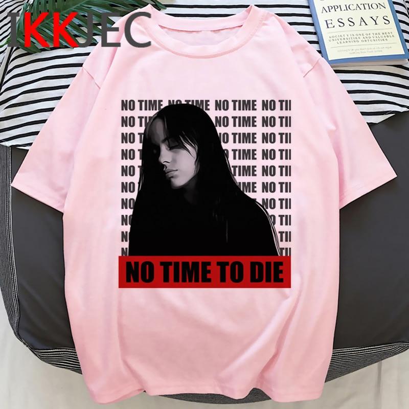 Billie Eilish Bad Guy Funny Cartoon Tshirt Men No Time To Die Graphic Cool T-shirt Summer Hip Hop Tshirt Streetwear Top Tee Male