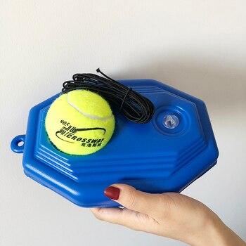Ferramenta resistente das ajudas do treinamento do instrutor de tênis com corda elástica bola prática auto-dever rebote partner sparring dispositivo rodapé