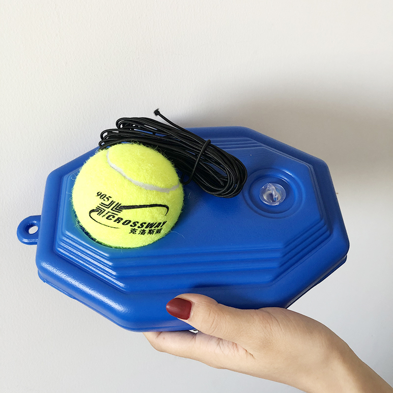 Heavy Duty Tennis Trainer Training Aids Tool With Elastic Rope Ball Practice Self-Duty Rebound Partner Sparring Device Baseboard