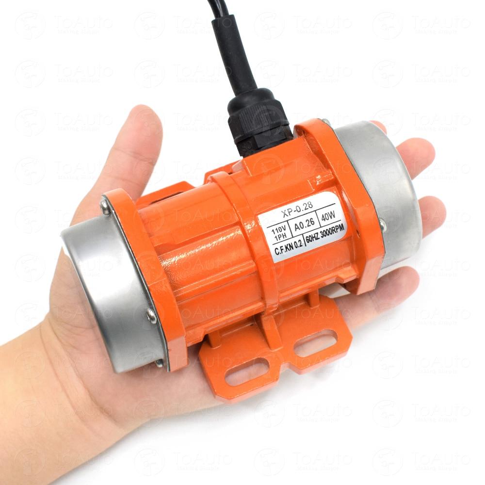 110V 40W Vibrating Motor Vibration Motor For Vibration Conveying, Screening, Drying, Finishing, Grinding, Crushing Equipment