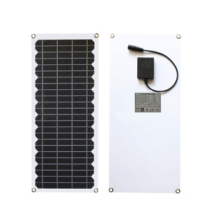 Image 2 - 12V 10w 태양 전지 패널 키트 투명 세미 유연한 Monocrystalline 태양 전지 DIY 모듈 야외 커넥터 DC 12v 충전기