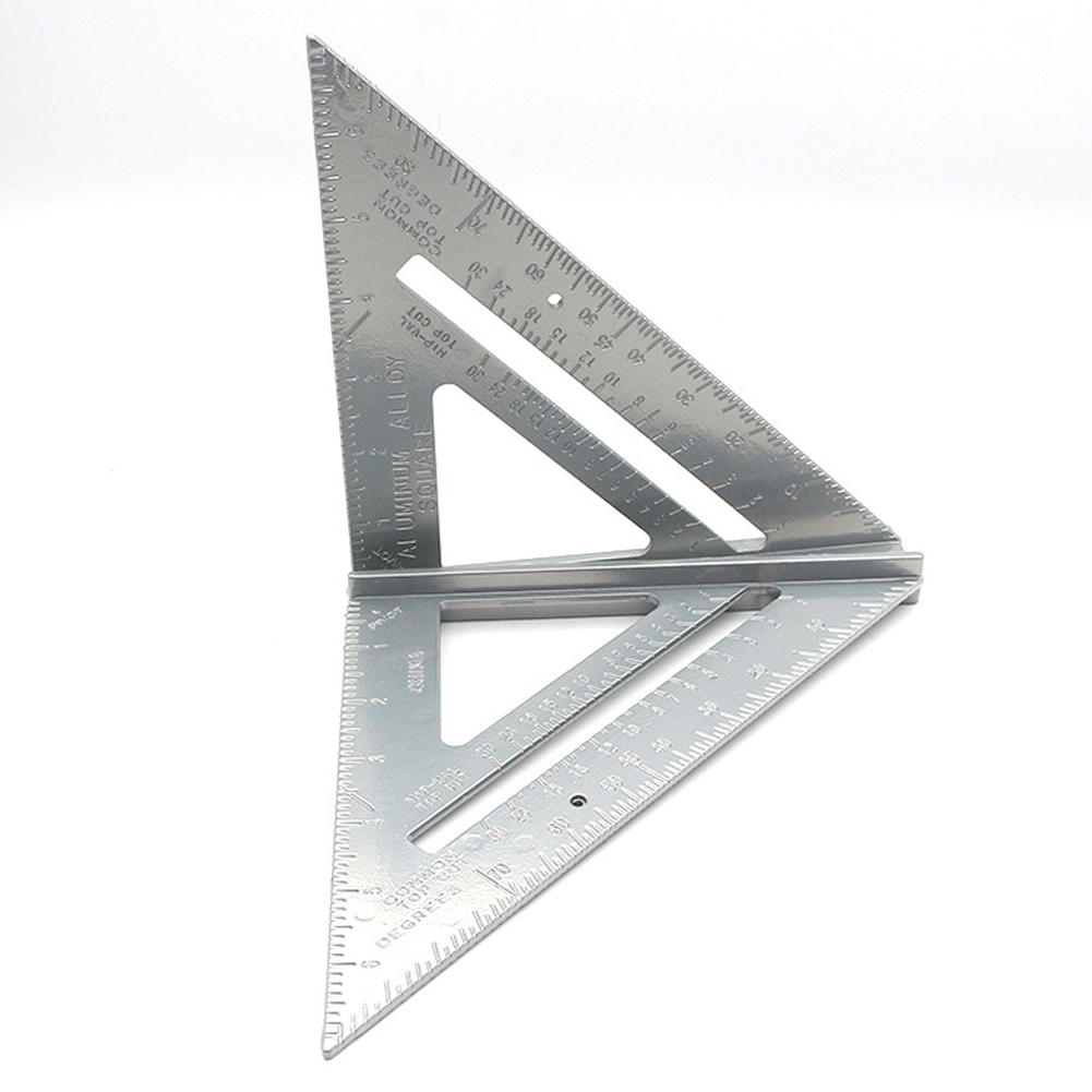 7inch Metric Triangle Angle Protractor Aluminum Alloy Speed Try Square Carpenter's Measuring Ruler Layout Tool Gauge Home DIY B4