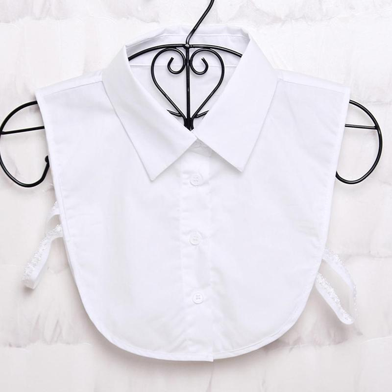 Collar Vintage Solid White Black Tie Detachable Collar Lapel Dickie False Collar Removable Women Clothes Accessories
