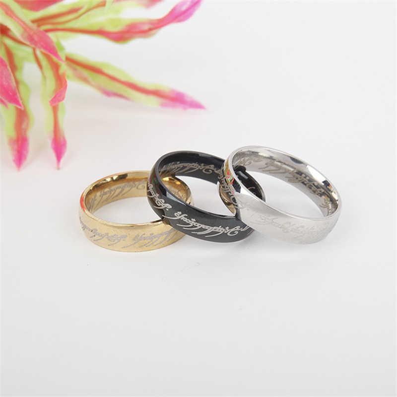ファッションリング鋼の金の指輪女性男性シンプルなシルバーリングジュエリー婚約リング人格のギフト