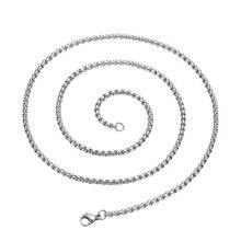 60 см серебряное ожерелье из нержавеющей стали Попкорн с длинной